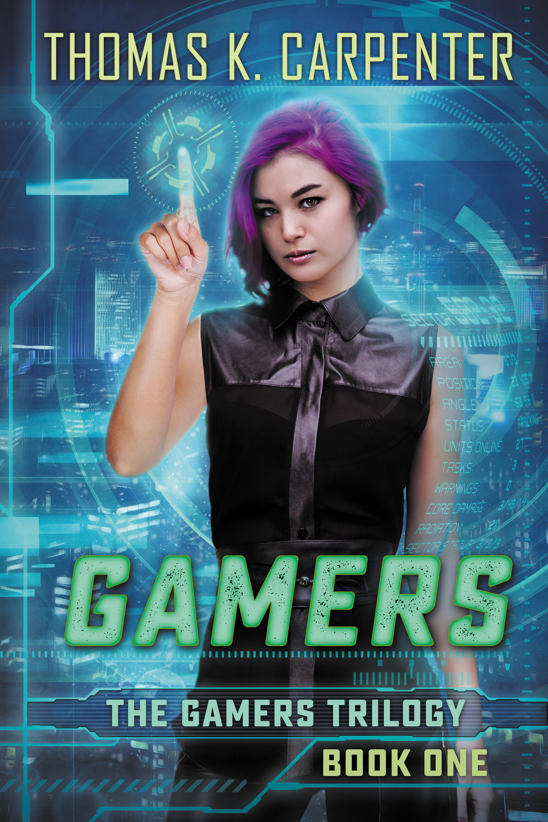 Gamers, a YA dystopia novel by Thomas K. Carpenter